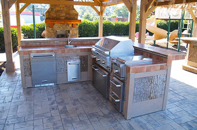 Outdoor Kitchen And Fireplace Complete Chimneys Llc