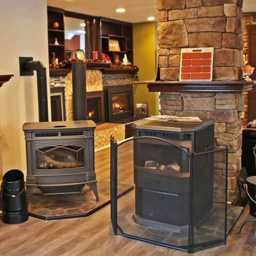 beautiful stove and fireplace showroom in Pasadena md