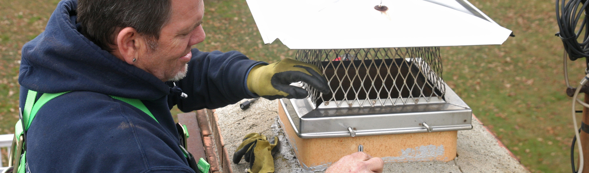 Annapolis MD chimney cap repair from leaky chimney