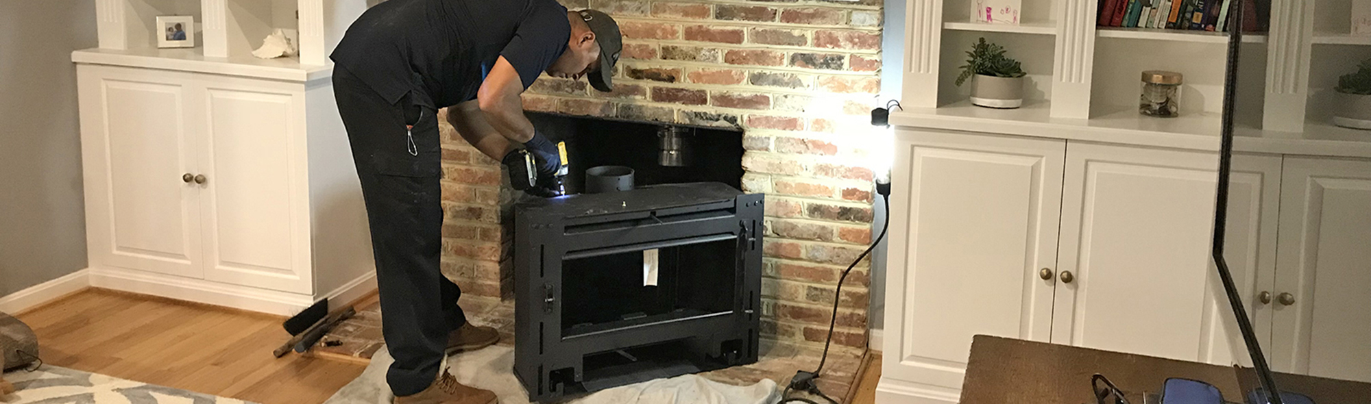 fireplace insert installation in Baltimore MD