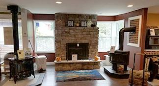 Chimney repair in living room