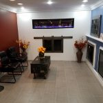 showroom propane fireplace