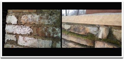 Old chimney bricks