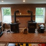 2 wood stoves in showroom