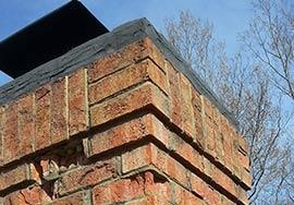 Brick chimney in need of repair