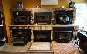 Showroom with wood stoves